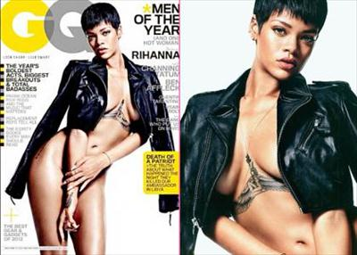rihanna nude gq magazine cover image